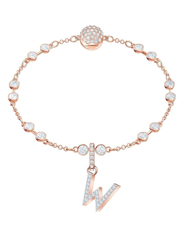 Remix Collection Charm W - White - Rose-gold Tone Plated image 2