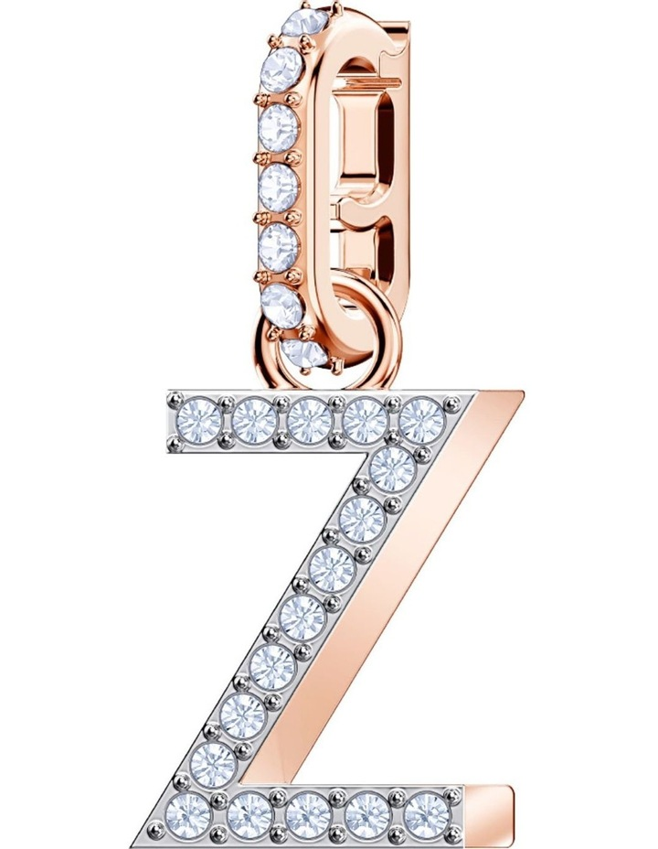 Remix Collection Charm Z - White - Rose-gold Tone Plated image 1