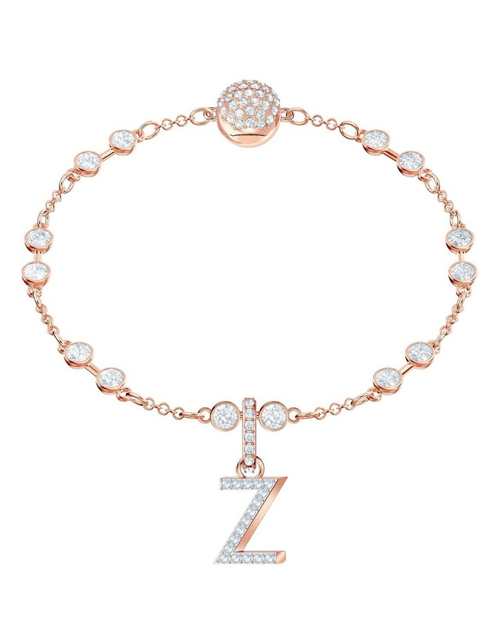 Remix Collection Charm Z - White - Rose-gold Tone Plated image 2
