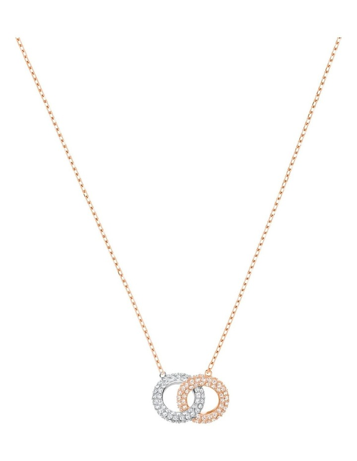 Stone Necklace - Multi-colored - Rose-gold Tone Plated image 1
