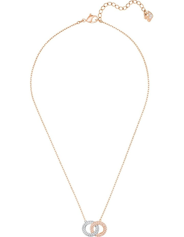 Stone Necklace - Multi-colored - Rose-gold Tone Plated image 2