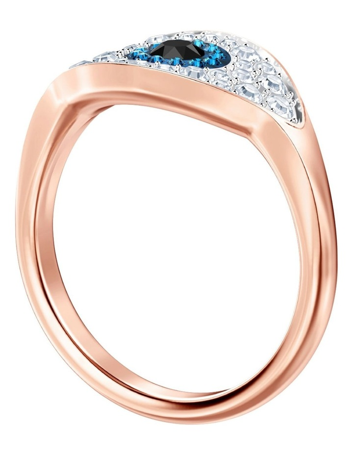 Symbolic Evil Eye Ring - Blue - Rose-gold Tone Plated S image 3