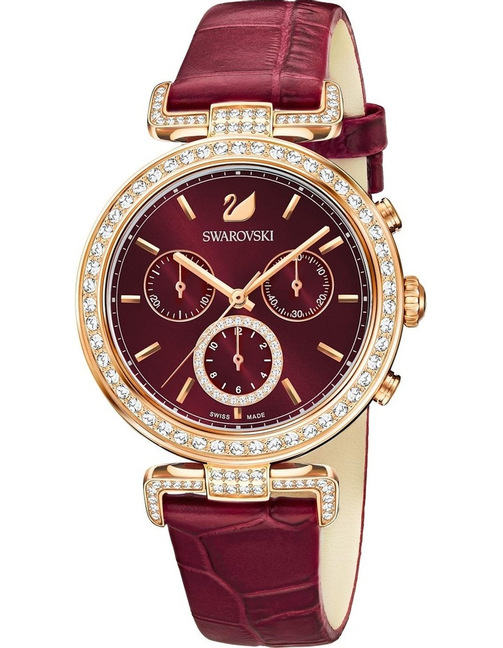 Era Journey Watch - Leather Strap - Dark Red - Rose-gold Tone Pvd image 1