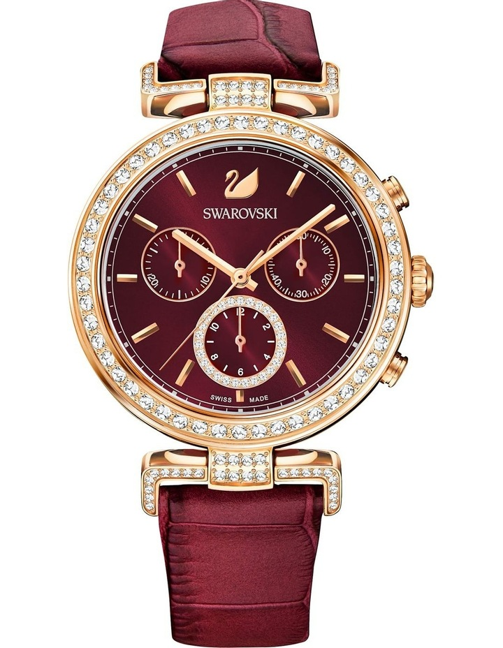 Era Journey Watch - Leather Strap - Dark Red - Rose-gold Tone Pvd image 2