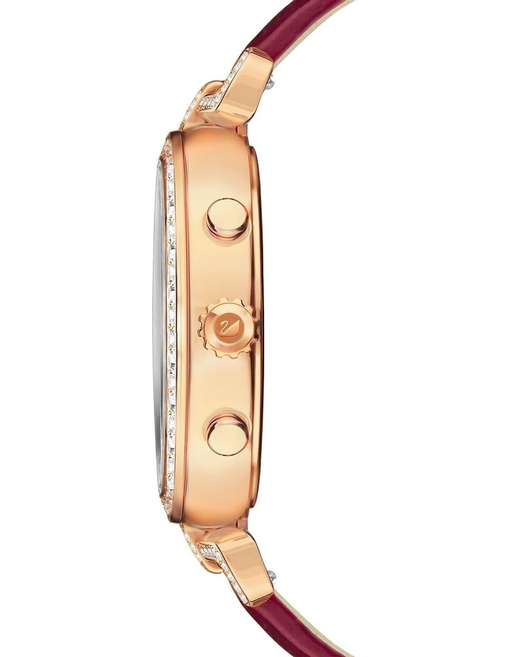 Era Journey Watch - Leather Strap - Dark Red - Rose-gold Tone Pvd image 3