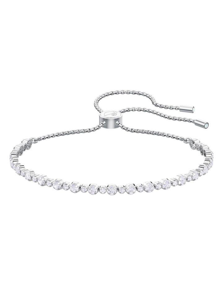 Subtle Bracelet - White - Rhodium Plated image 1