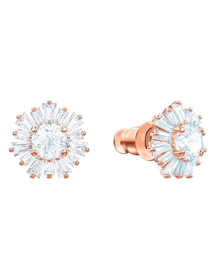 Sunshine Pierced Earrings - White - Rose-gold Tone Plated image 2