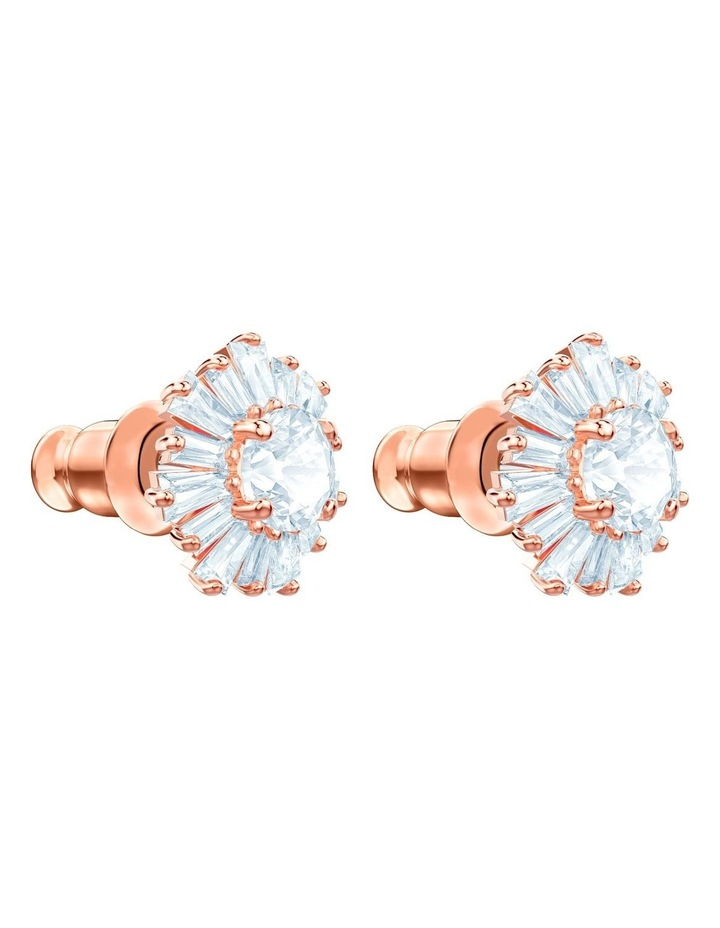 Sunshine Pierced Earrings - White - Rose-gold Tone Plated image 3