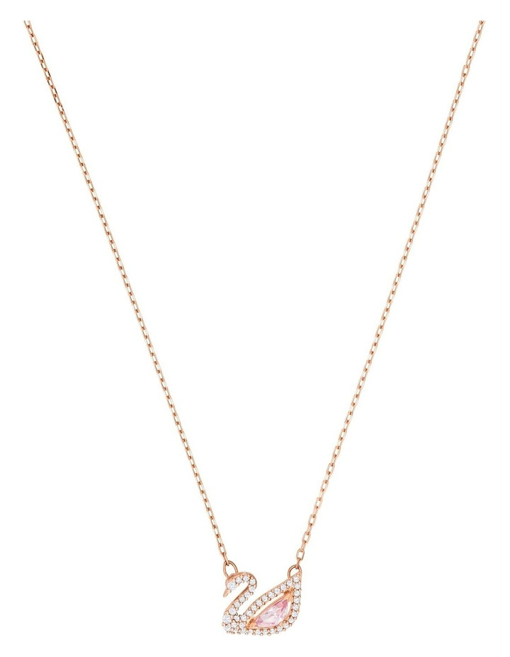 Dazzling Swan Necklace - Multi-colored - Rose-gold Tone Plated image 1