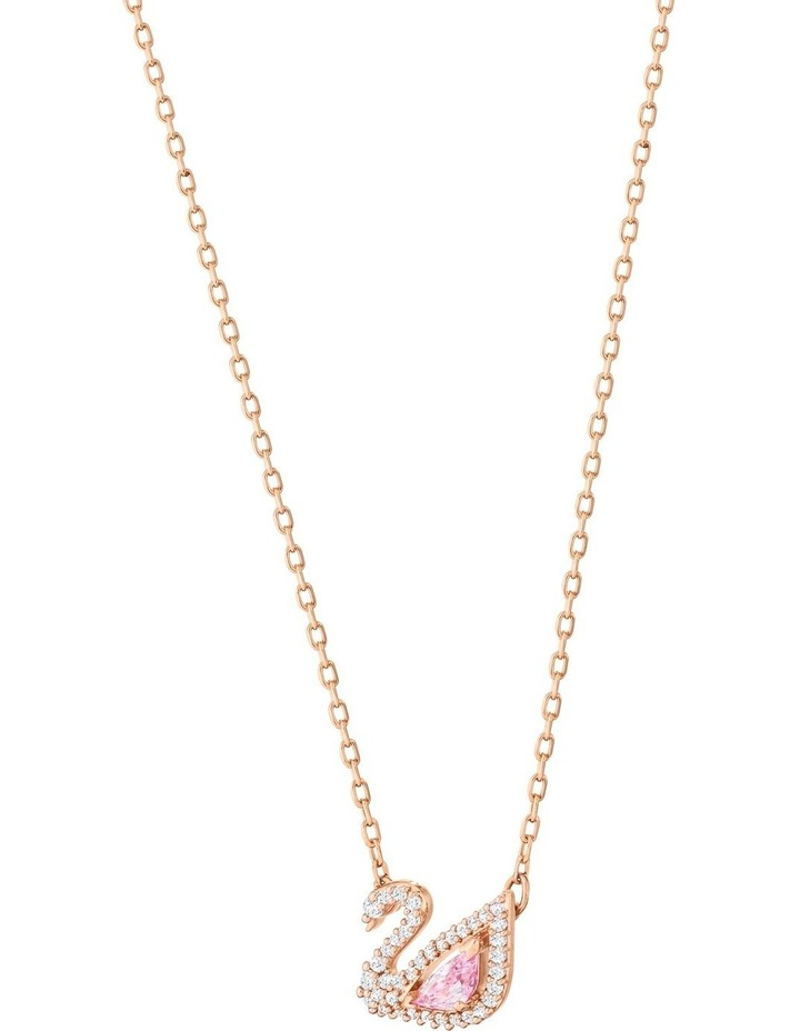 Dazzling Swan Necklace - Multi-colored - Rose-gold Tone Plated image 3