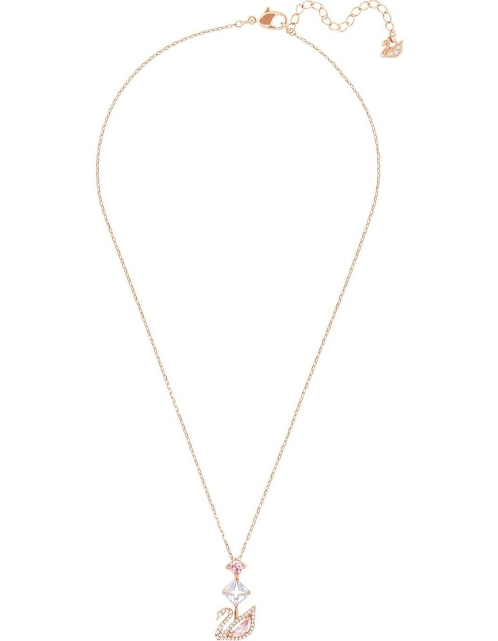 Dazzling Swan Y Necklace - Multi-colored - Rose-gold Tone Plated image 2