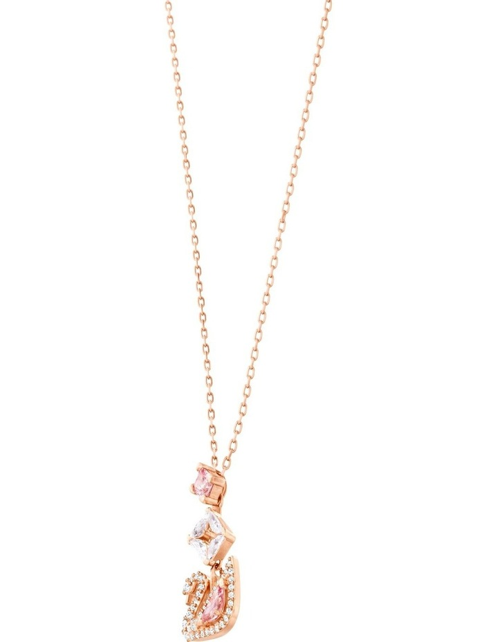 Dazzling Swan Y Necklace - Multi-colored - Rose-gold Tone Plated image 3