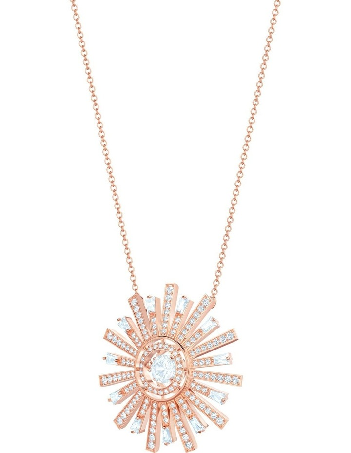 Sunshine Necklace - White - Rose-gold Tone Plated image 3
