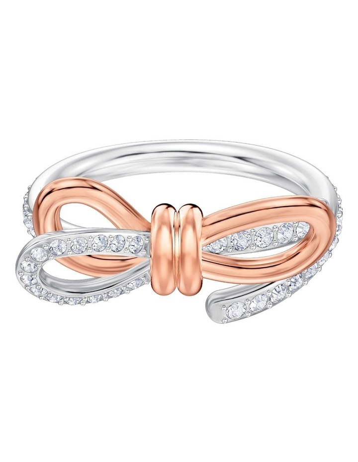 Lifelong Bow Ring - Medium - White - Mixed Metal Finish 60mm image 1