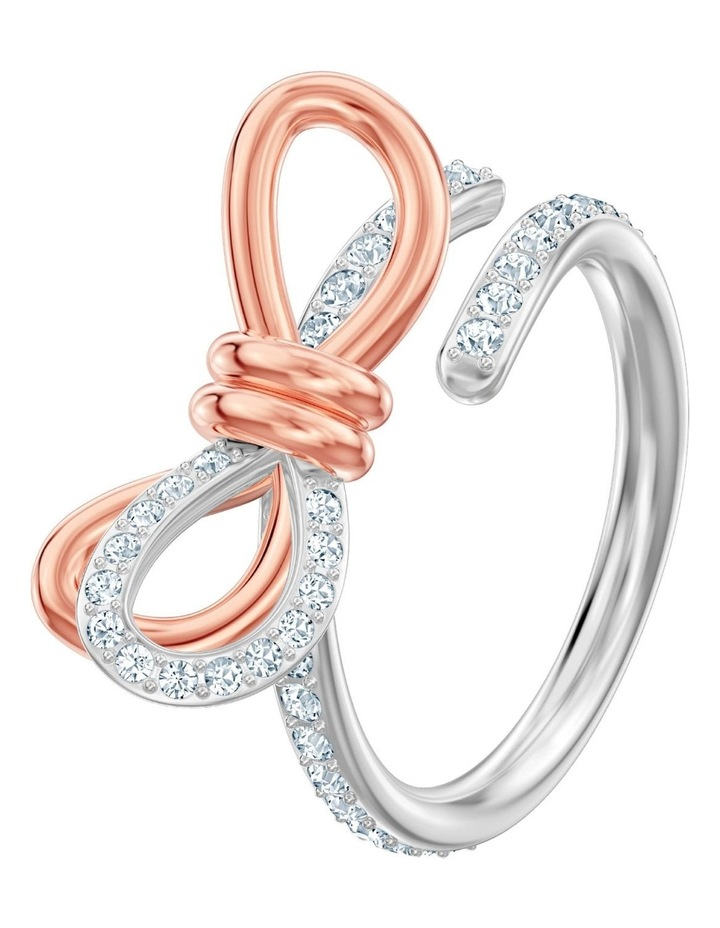 Lifelong Bow Ring - Medium - White - Mixed Metal Finish 60mm image 2