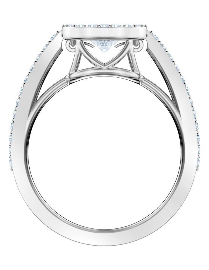 Sparkling Dance Round Ring - White - Rhodium Plated 52mm image 3