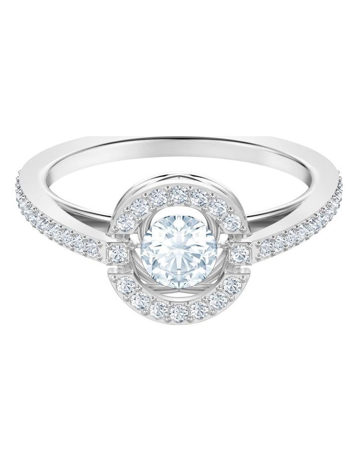Sparkling Dance Round Ring - White - Rhodium Plated 55mm image 1