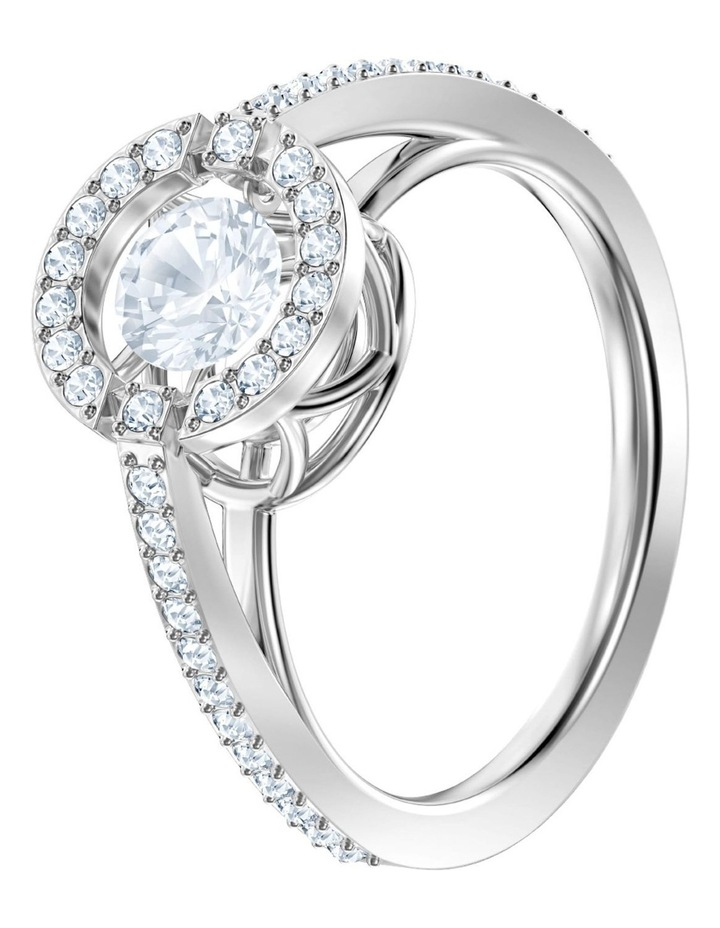 Sparkling Dance Round Ring - White - Rhodium Plated 55mm image 2