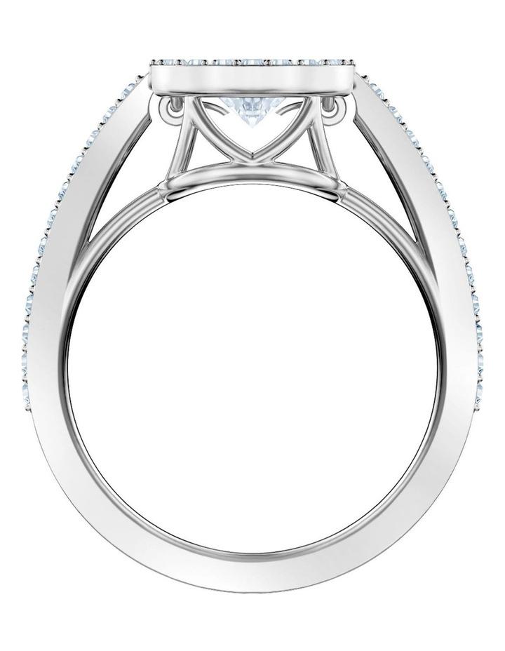 Sparkling Dance Round Ring - White - Rhodium Plated 55mm image 3