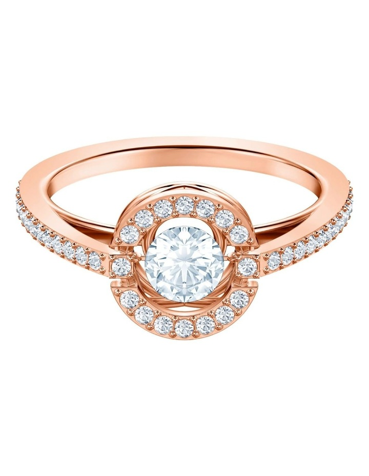 Sparkling Dance Round Ring - White - Rose-gold Tone Plated 58mm image 1