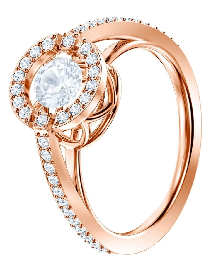 Sparkling Dance Round Ring - White - Rose-gold Tone Plated 58mm image 2