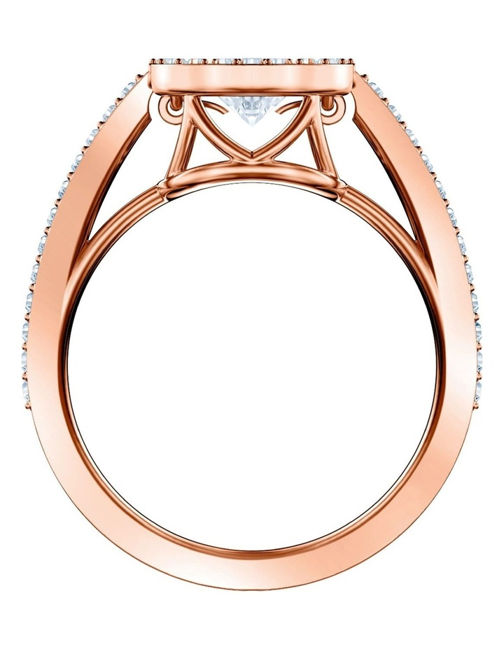 Sparkling Dance Round Ring - White - Rose-gold Tone Plated 58mm image 3