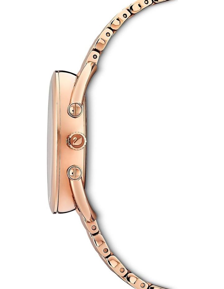 Crystalline Glam Watch - Metal Bracelet - White - Rose-Gold Tone Pvd image 2