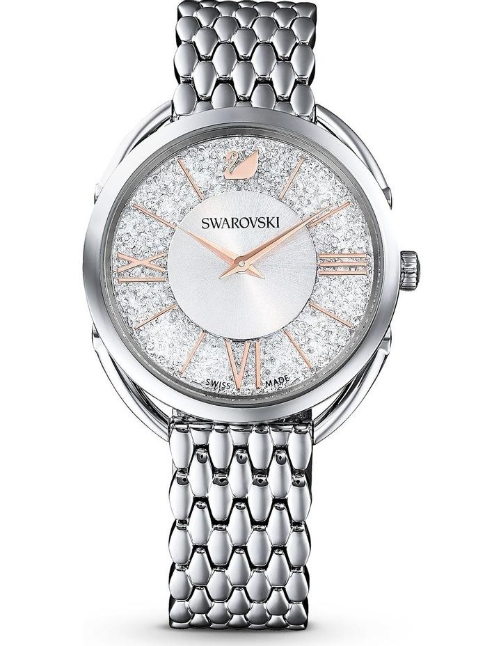 Crystalline Glam Watch - Metal Bracelet - White - Stainless Steel image 1