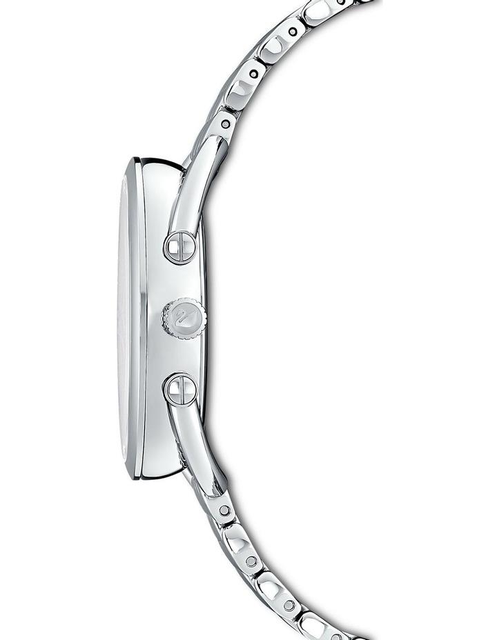 Crystalline Glam Watch - Metal Bracelet - White - Stainless Steel image 2