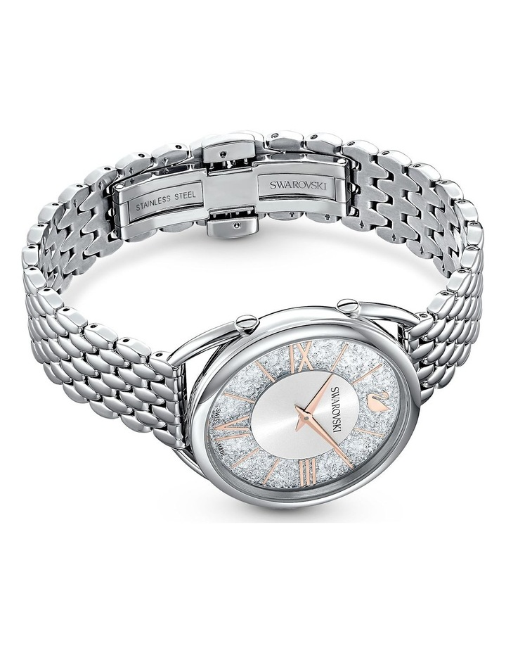 Crystalline Glam Watch - Metal Bracelet - White - Stainless Steel image 3