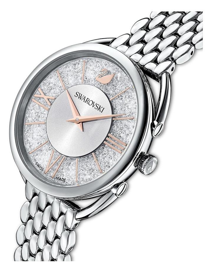 Crystalline Glam Watch - Metal Bracelet - White - Stainless Steel image 4