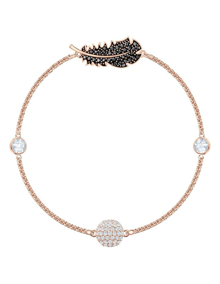 Remix Collection Feather Strand - Black - Rose-gold Tone Plated image 1