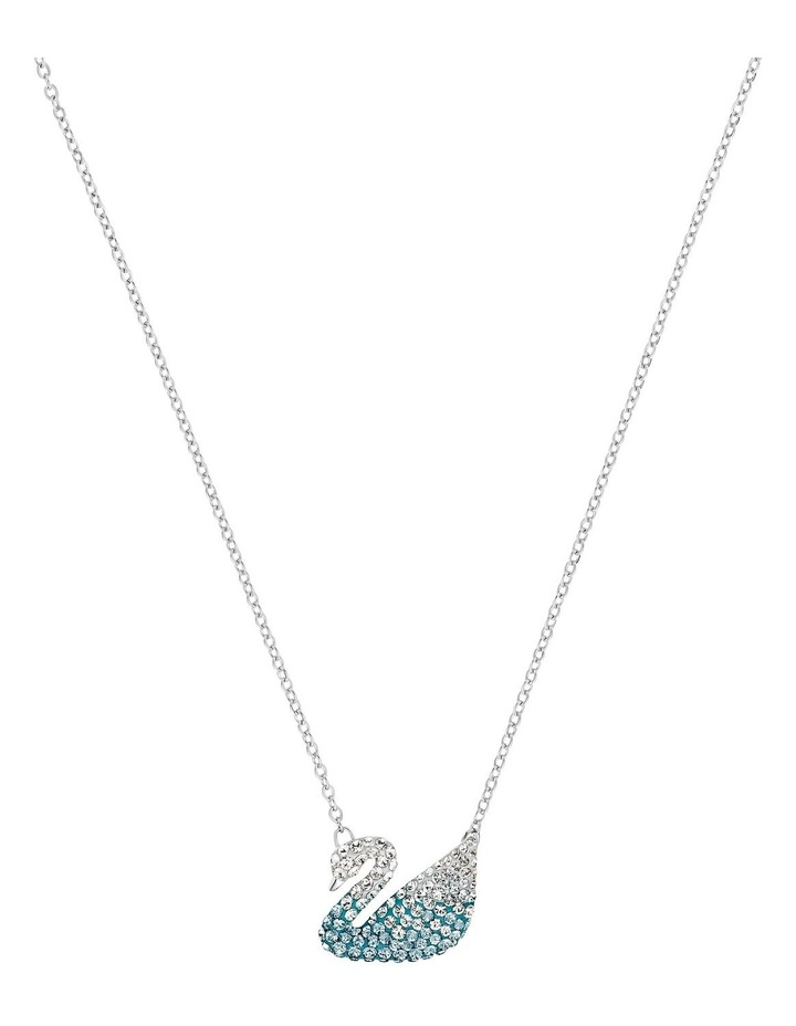 Iconic Swan Pendant - Multi-colored - Rhodium Plated image 1