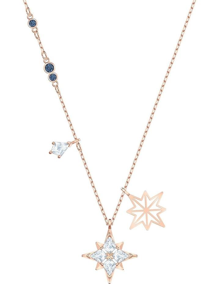 Symbolic Star Pendant - White - Rose-gold Tone Plated image 1