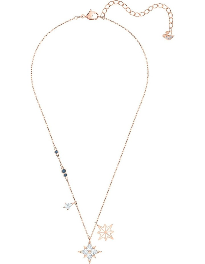 Symbolic Star Pendant - White - Rose-gold Tone Plated image 2