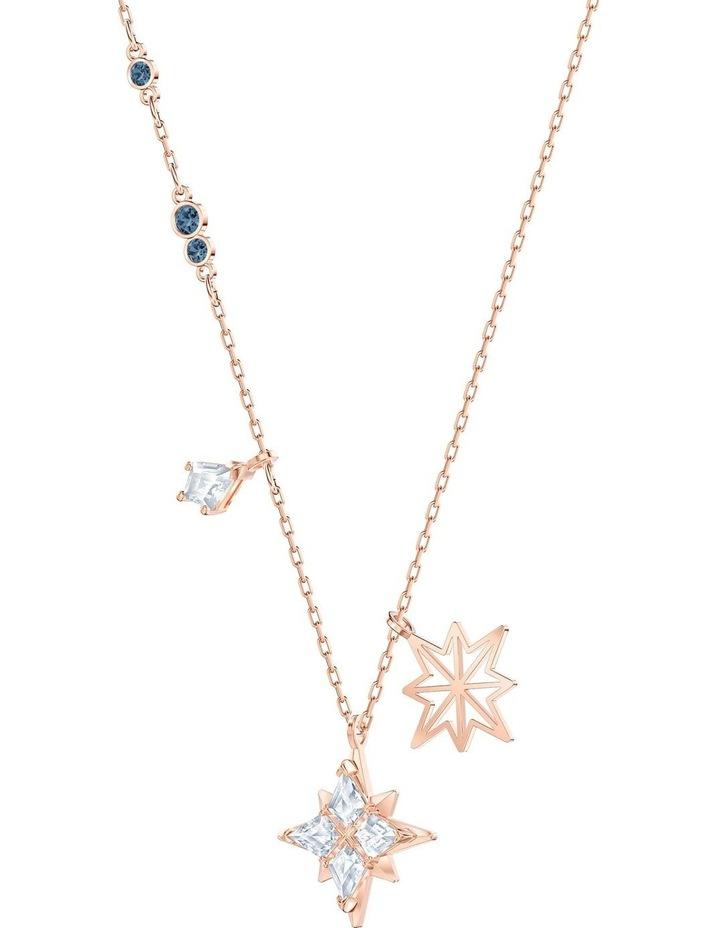 Symbolic Star Pendant - White - Rose-gold Tone Plated image 3