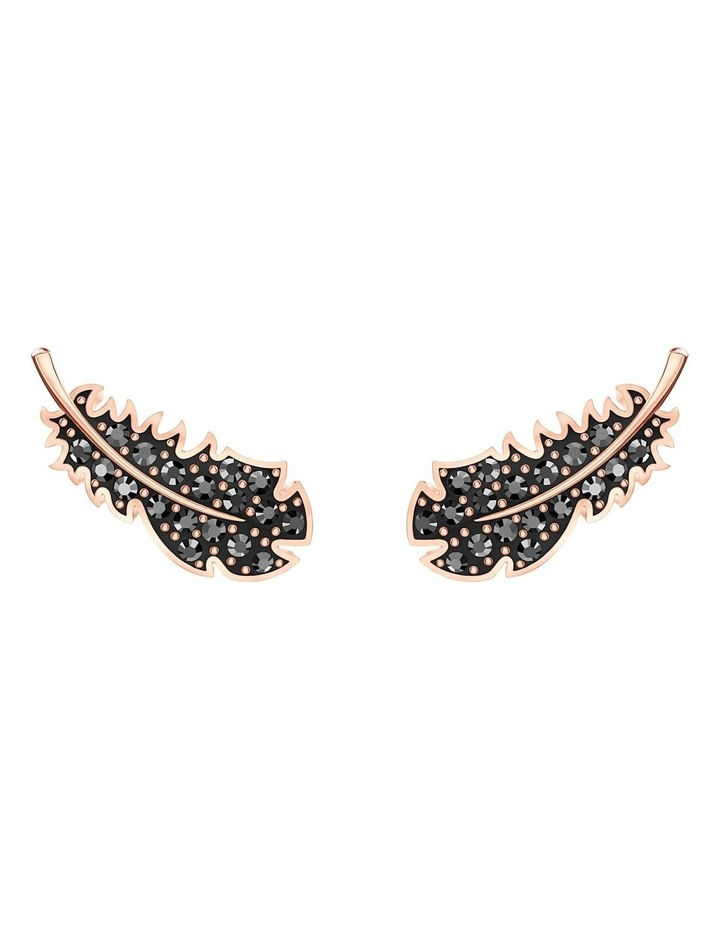 Naughty Pierced Earrings - Black - Rose-gold Tone Plated image 1