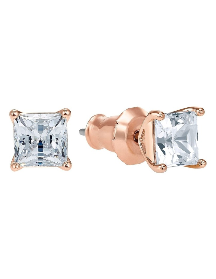 Attract Pierced Earrings - White - Rose-gold Tone Plated image 2