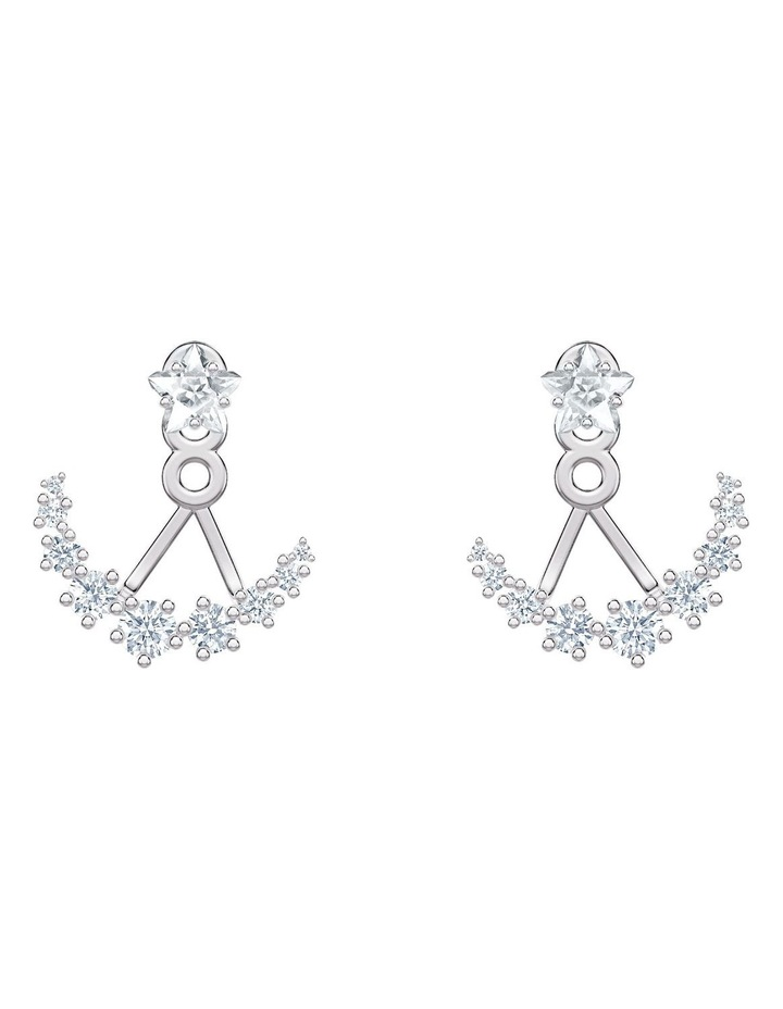 Penélope Cruz Moonsun Pierced Earring Jackets - White - Rhodium Plated image 1
