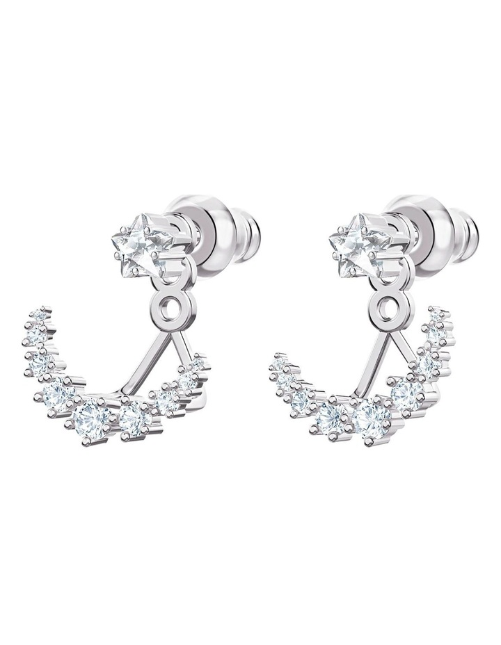 Penélope Cruz Moonsun Pierced Earring Jackets - White - Rhodium Plated image 2