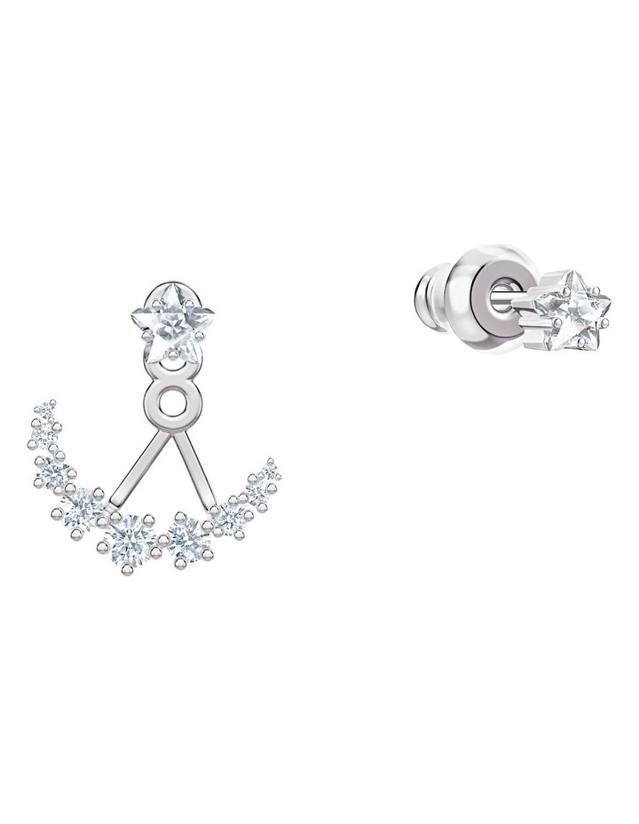 Penélope Cruz Moonsun Pierced Earring Jackets - White - Rhodium Plated image 3
