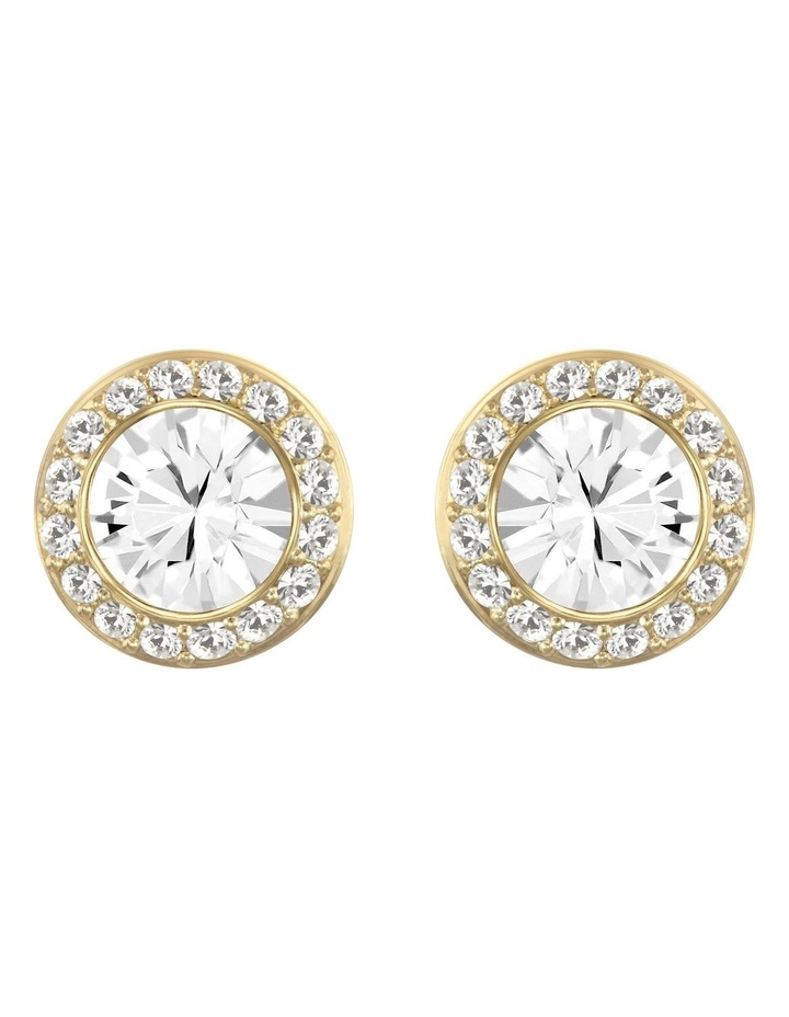 Angelic Stud Pierced Earrings - White - Gold-tone Plated image 1