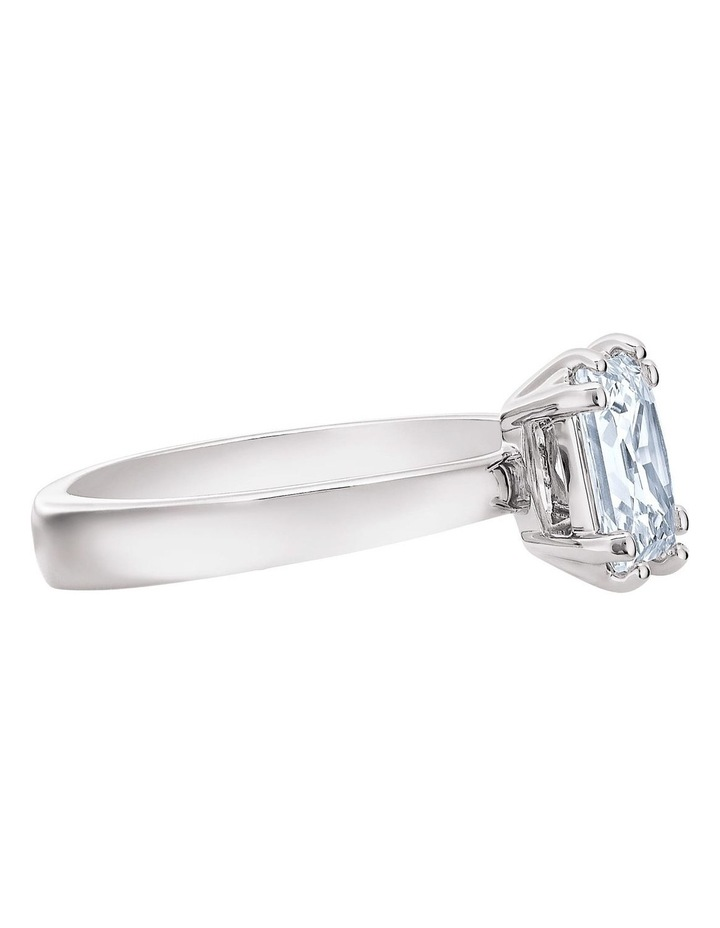 Attract Motif Ring - White - Rhodium Plated 55mm image 3