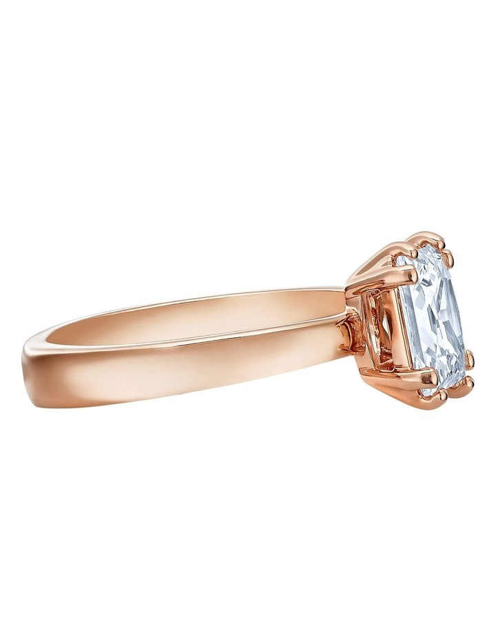 Attract Motif Ring - White - Rose-gold Tone Plated 52mm image 3
