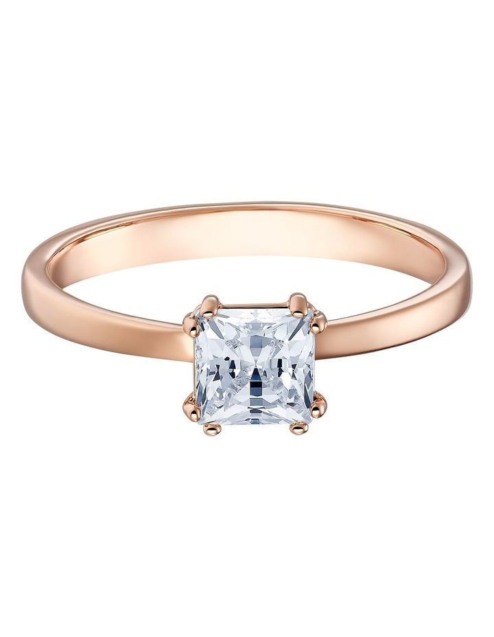 Attract Motif Ring - White - Rose-gold Tone Plated 58mm image 1