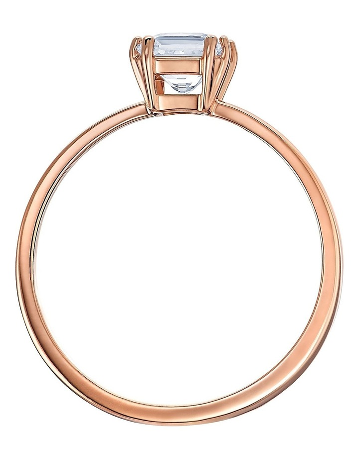 Attract Motif Ring - White - Rose-gold Tone Plated 58mm image 2