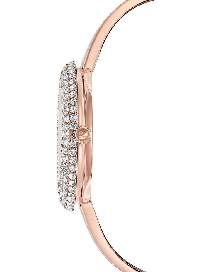 Crystal Rose Watch - Metal Bracelet - White - Rose-Gold Tone Pvd image 2