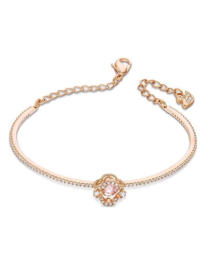 Sparkling Dance Clover Bangle - Pink - Rose-gold Tone Plated image 2
