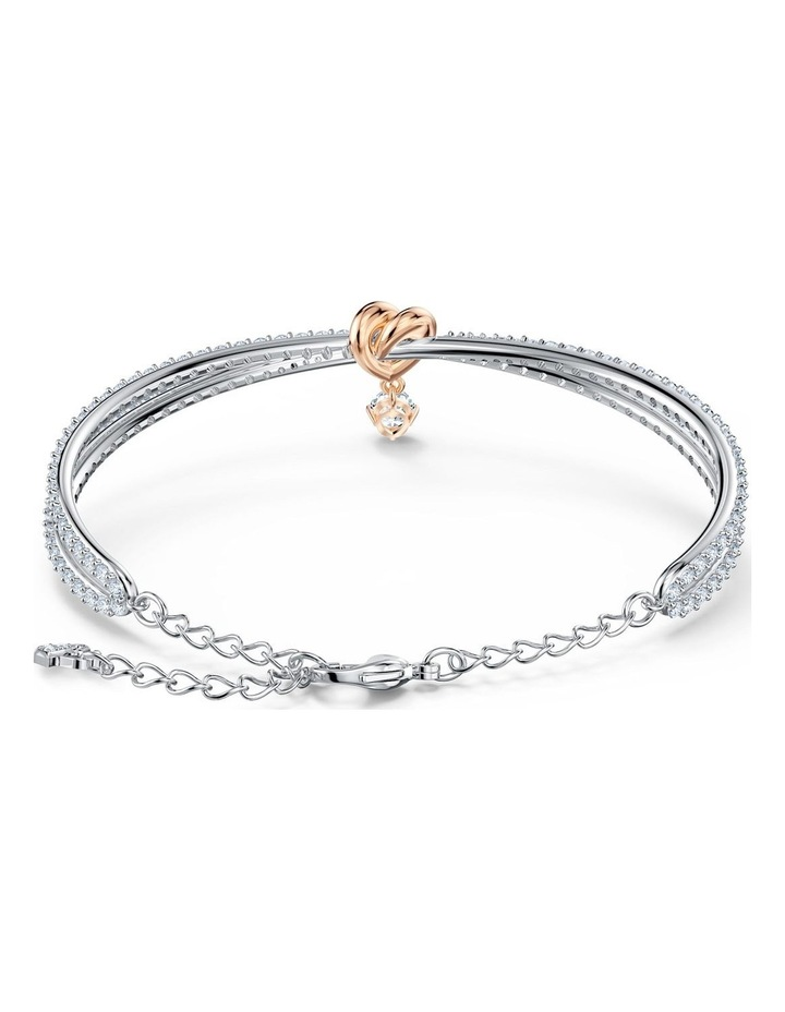 Lifelong Heart Bangle - White - Mixed Metal Finish image 3