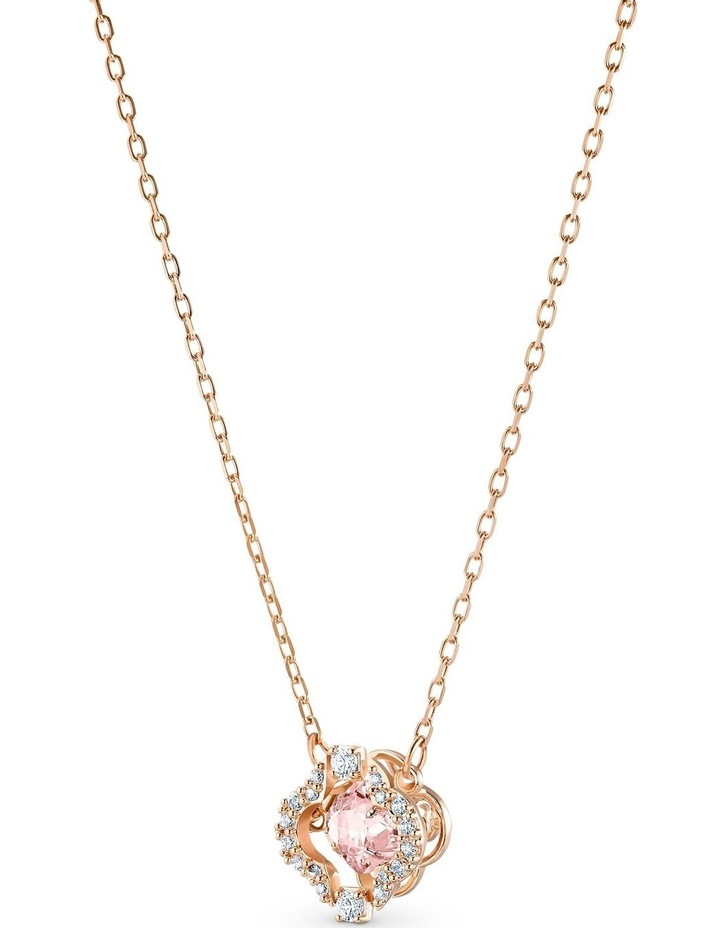 Sparkling Dance Clover Necklace - Pink - Rose-gold Tone Plated image 2
